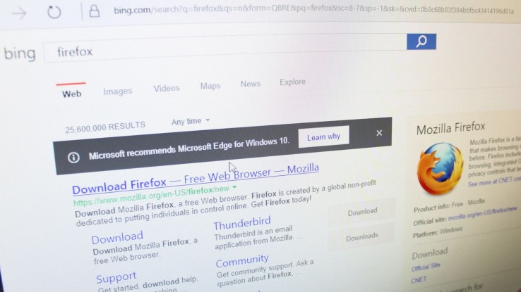 Use Edge, not Firefox